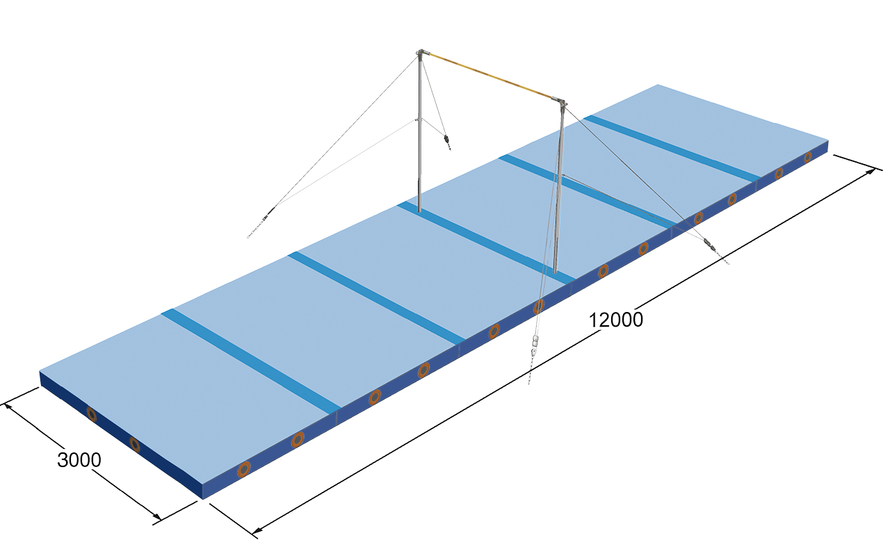 1565821 ABSA Mattenset rekstok naaldvilt blauw JF_corr